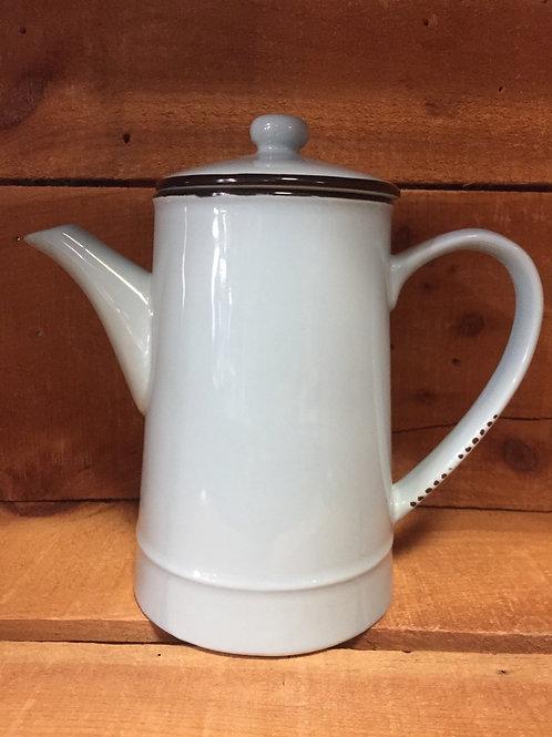 """8.75"""" x 8.25"""" x 4.5"""" Blue Ceramic Teapot by Abbott"""