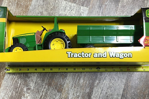 John Deere Tractor and Wagon Set
