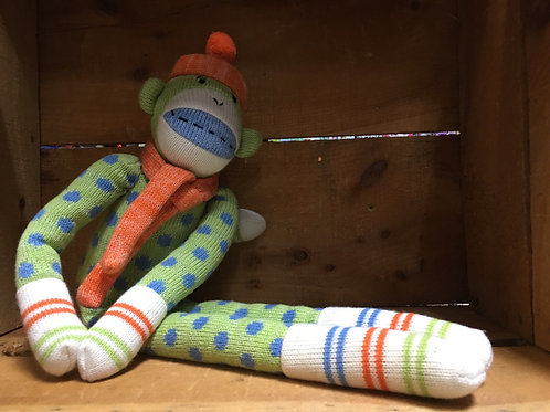 "22"" Sebastian the Monkey Sock Monkeez & Friends Brand Plush Stuffed Animal"