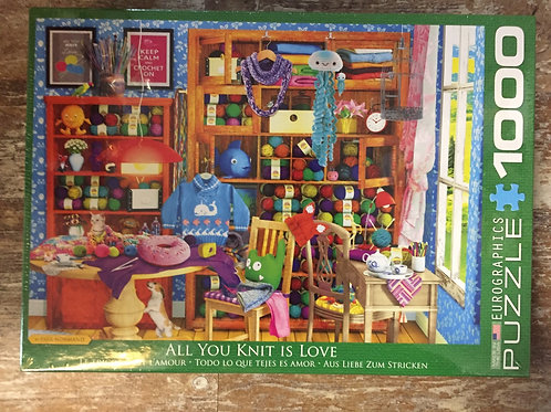 All You Knit is Love- 1000pc Eurographic Puzzle