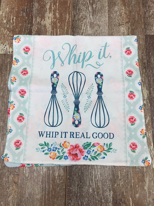 """""""Whip it, Whip it Real Good"""" Microfibre Kitchen Towel by History & Heraldry"""