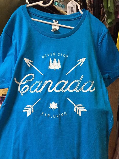 Missy T-Shirt - Never Stop Exploring Canada