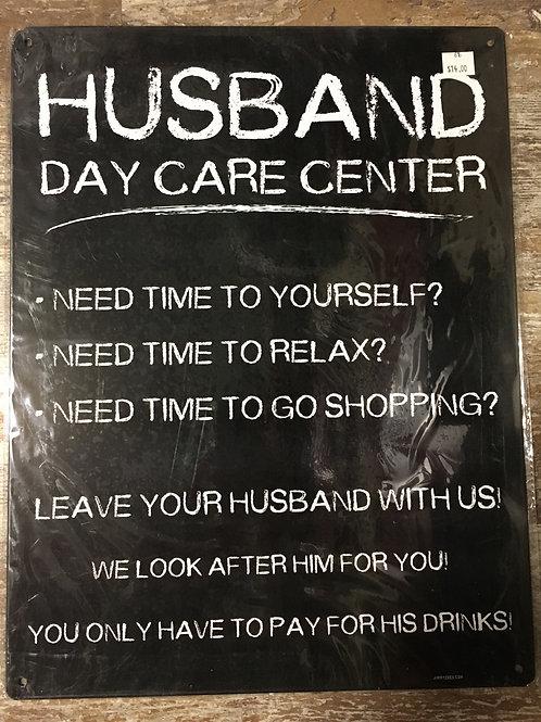 """Husband Day Carr Center"" 16.75"" x 13"" Metal Sign"