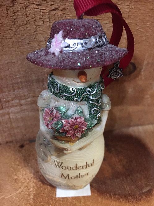Worlds Best Nurse Snowman Christmas Tree Ornament
