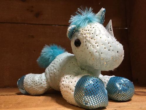 "7"" Blue Fantasy Pony Aurora Brand Plush Stuffed Animal"