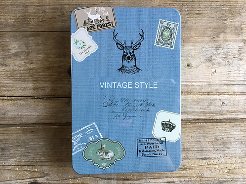 """""""Vintage"""" 6""""x4"""" Metal Blank and Dot Matrix Pages Notebook Journal by Nostalgia"""