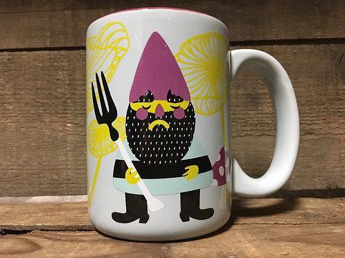 Blue Gnome Ceramic Mug by Kitchen Glam