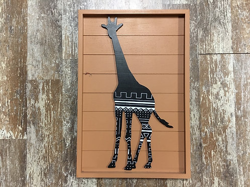 """8"""" x 12"""" Wood Framed Giraffe Picture by Young's Inc"""