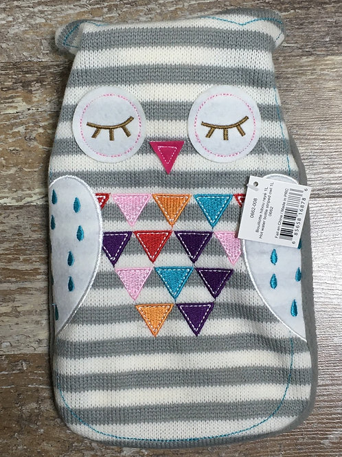 1L Hot Water Bottle - Striped Owl