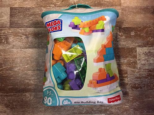 80 Piece Big Building Bag of Fisher-Price Mega Bloks