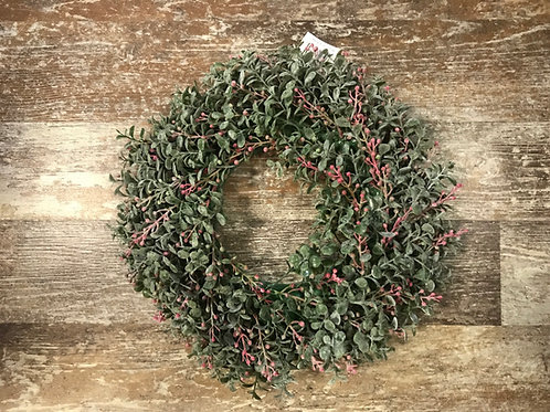 """11"""" x 11"""" x 2"""" Plastic Wreath by Young's Inc"""