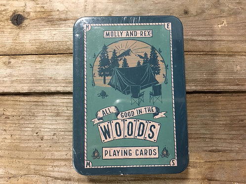 """""""All Good in the Woods"""" Playing Cards in a Tin by Molly and Rex"""