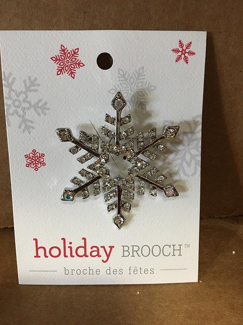 Zinc Alloy Brooch Star Snowflake