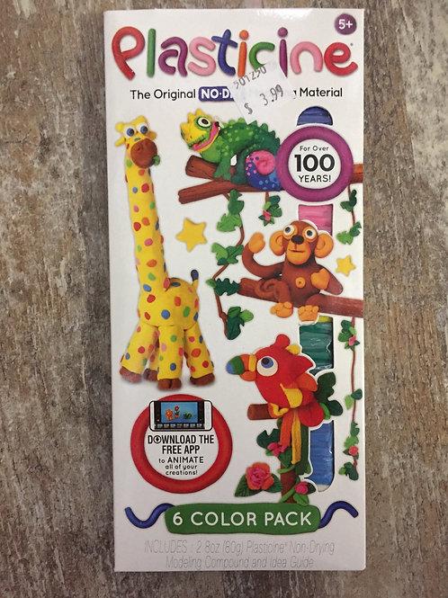 6 Colour Pack of Original No Dry Moulding Plasticine
