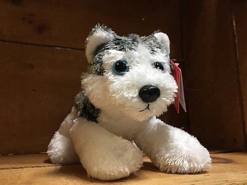 "7"" Mush the Husky Dog Aurora Brand Plush Stuffed Animal"