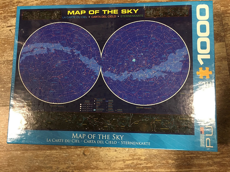 1000 pc Eurographics Puzzle- Map of the Sky