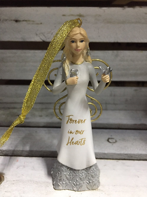 """Angel Ornament - """"Forever in our Hearts"""""""