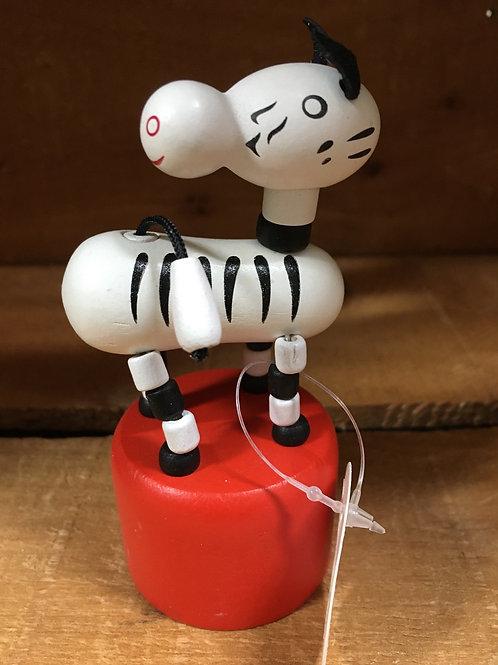 Zebra Wooden Dancing Puppet Toy