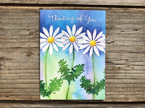 """""""Thinking of You"""" 5"""" x 3.75"""" Little Jeanie Greeting Card by Hazy Jean"""