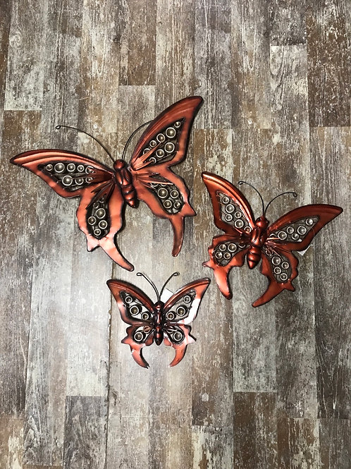 Piece Hanging Metal Butterfly Wall Art by Koppers Imports