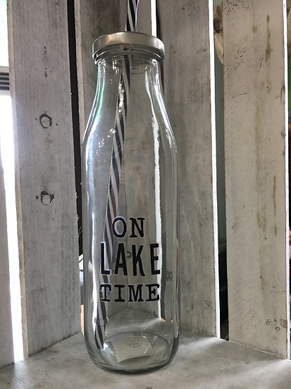 Bottle with Straw