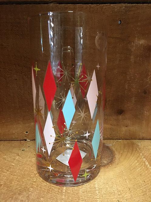 "6.5"" Tall Highball Bowlerama Glass by Abbott"