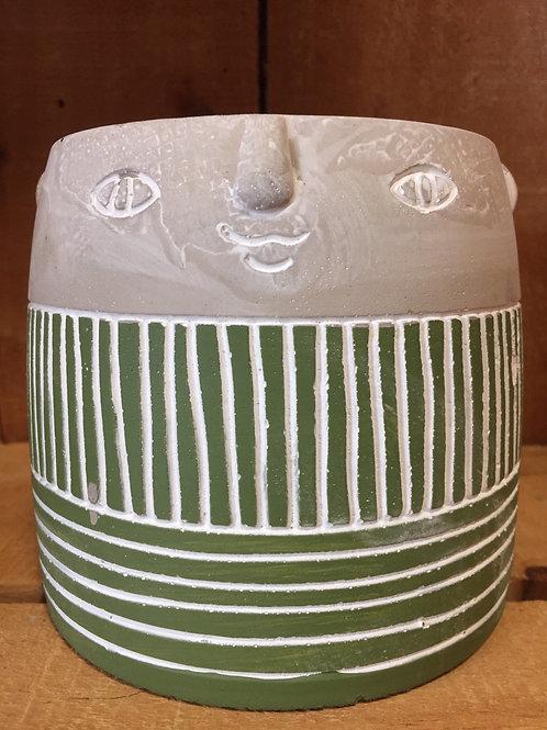 Concrete Face Planter