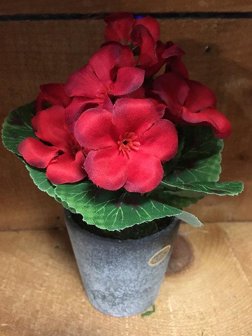 """7"""" x 3"""" x 3"""" Plastic Floral Arrangement in Resin Pot by Abbott"""