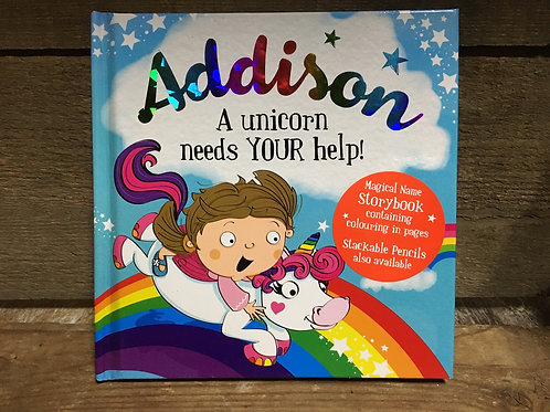 Addison A Unicorn Needs Your Help Magical Storytime Book