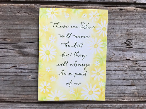 """""""Those We Love Will Never.."""" 5"""" x 3.75"""" Little Jeanie Greeting Card by Hazy Jean"""