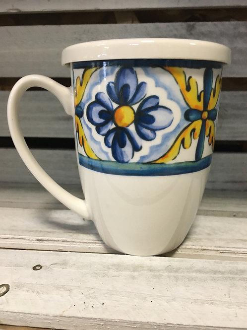 Ceramic Mug with Lid and Tea Infuser