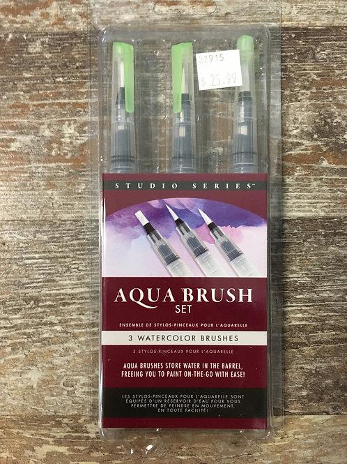 Watercolour Aqua Brush Set of 3 by Studio Series