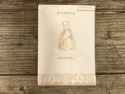 """""""You're Going to be a"""" Bridal Shower 7"""" x 5"""" Greeting Card by Designer Greetings"""