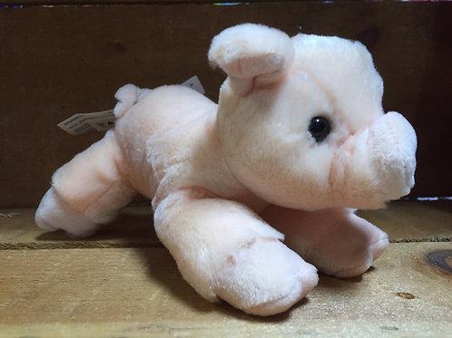 "7"" Percy the Pig Aurora Brand Plush Stuffed Animal"