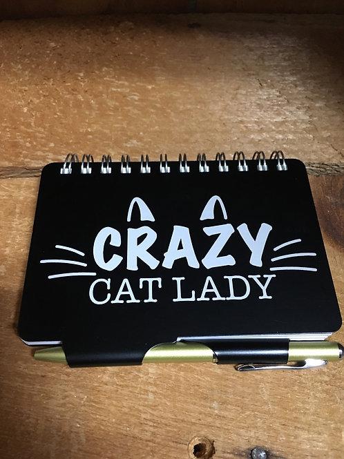 "Address Book - Crazy Cat Lady - 4.5"" x 3.5"""