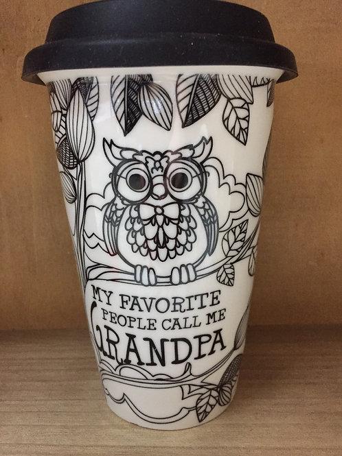 """My Favourite People Call Me Grandpa"" Ceramic Mug"