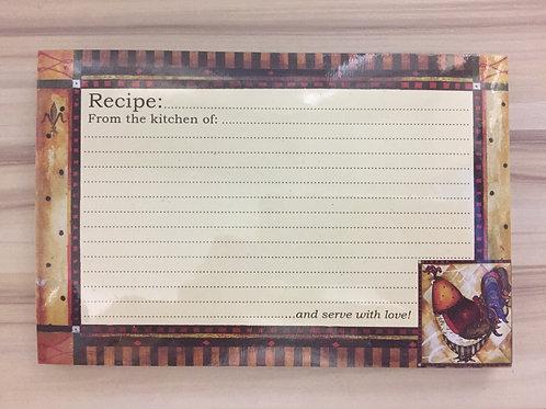 36 Recipe Cards