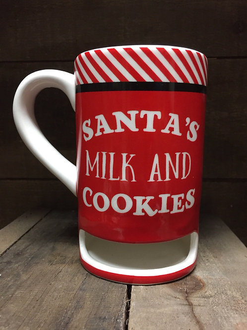 Christmas Ceramic Mug with Cookie Slot