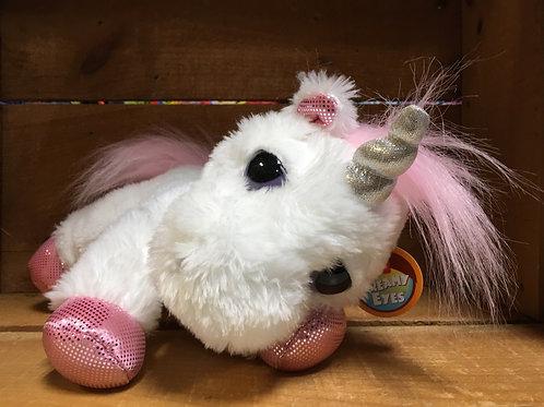 Heavenly White Dreamy Eyes Unicorn Plush Stuffed Animal