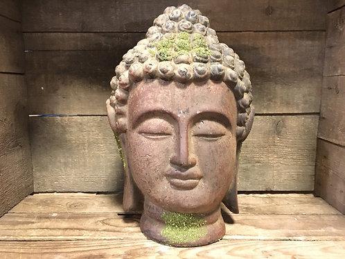 "11""'x 7"" x 6.5"" Hollow Concrete Buddha Statue by Abbott"