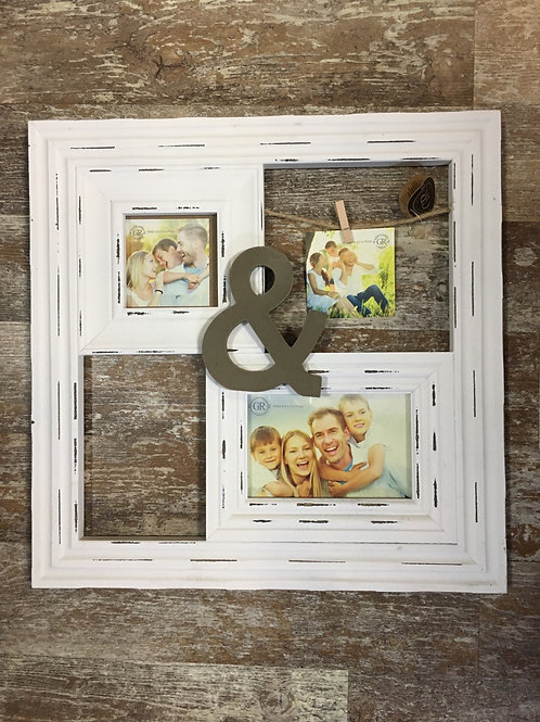"""&"" 15.75"" x 15.75"" 3 Photo Collage Hanging Picture Frame by Grassland Roads"