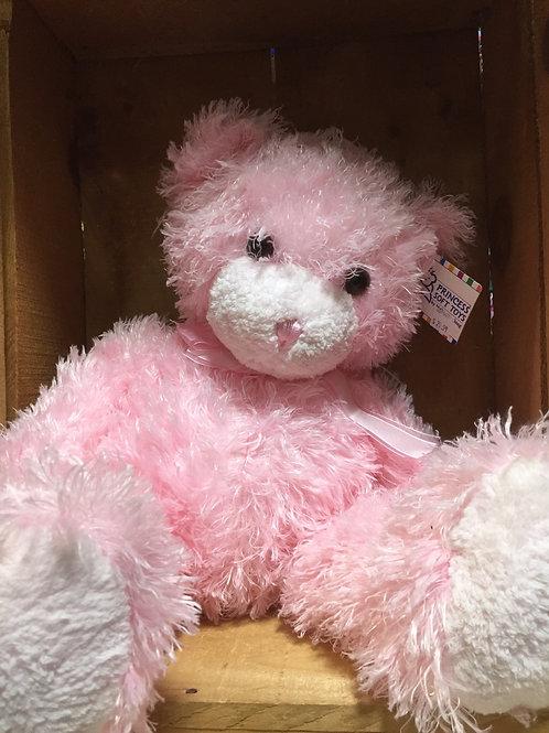 """12"""" Cotton Candy Pink Bear Plush Stuffed Animal"""