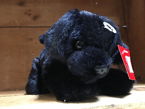 "7"" Blackie the Dog Aurora Brand Plush Stuffed Animal"