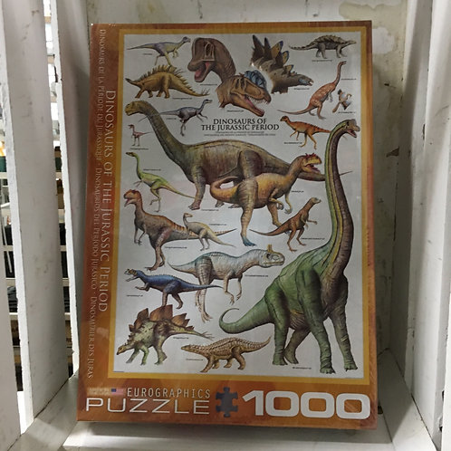 1000 Pc Eurographics Puzzle -Dinosaurs of Jurassic Period