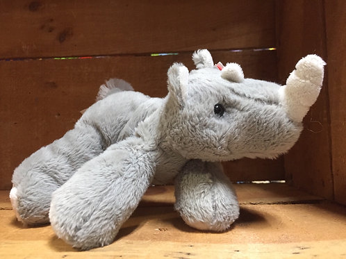 "7"" Rhinoceros Aurora Brand Plush Stuffed Animal"