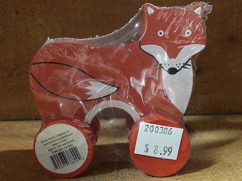 """3.5x 3.5"""" Fox Wooden Roller Toy"""