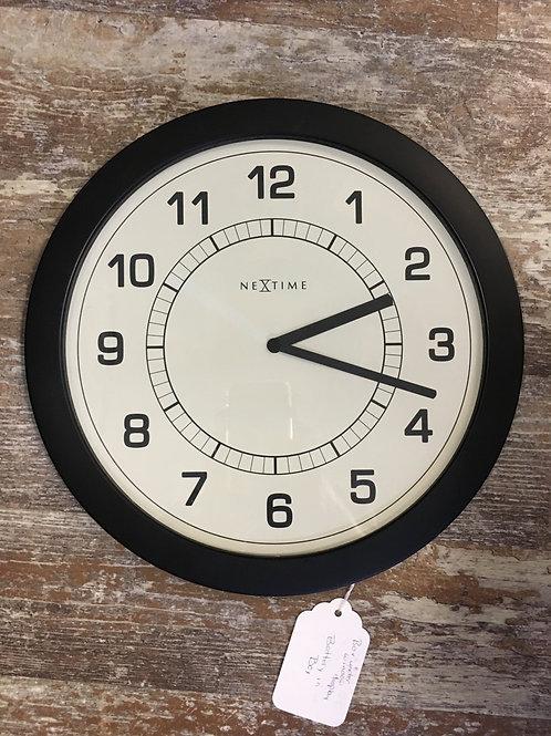 "11"" x 11"" Flat Wall Clock by Nextime"