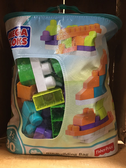 80 Piece Big Building Bag of Fisher-Price Mega Bloks