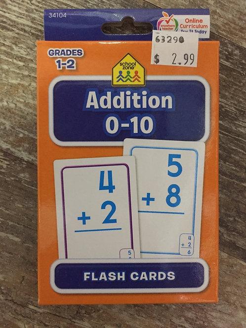 Addition 0-10 Grades 1-2 Ontario Curriculum School Zone Flashcards