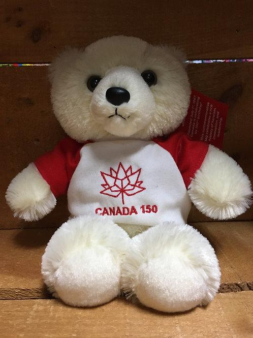 "8"" Polar Bear Canada 150 Plush Stuffed Animal"